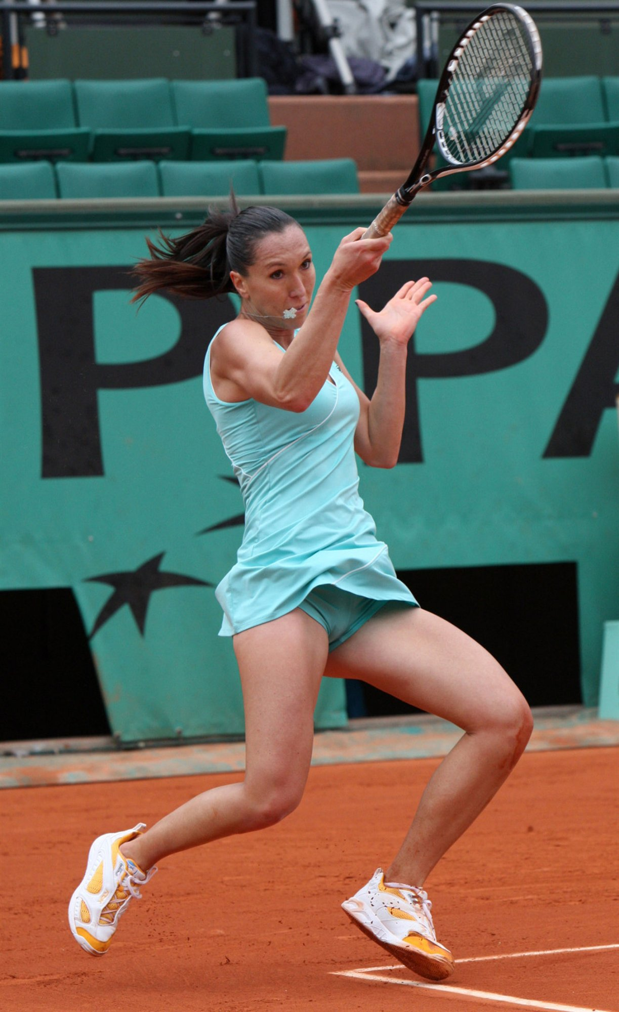 Jelena Jankovic Of Serbia Plays A Shot In Her Round 3 Picture